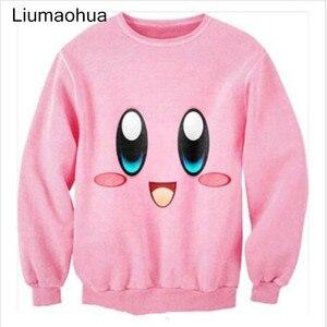 Image 1 - Liumaohua חדש חמוד cartoon קירבי חביב מודפס 3D גברים/נשים חולצות ארוך שרוול חולצות נים harajuku סגנון סוודרי t