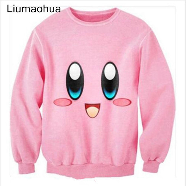 Liumaohua חדש חמוד cartoon קירבי חביב מודפס 3D גברים/נשים חולצות ארוך שרוול חולצות נים harajuku סגנון סוודרי t