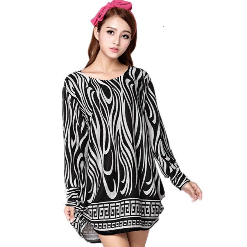 2017 New Women XXL 3XL 4XL Big Size Autumn Winter Casual Dress Polka Dot Print Fashion Long Sleeve Knitted Sweater Tops Dresses new fashion autumn winter girl dress polka dot