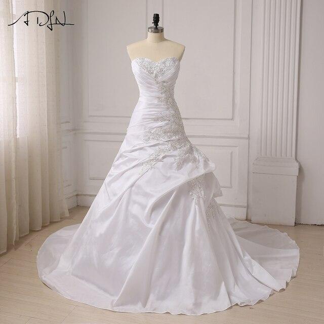 ADLN Women Mermaid Wedding Dresses Sweetheart Beaded Applique ...
