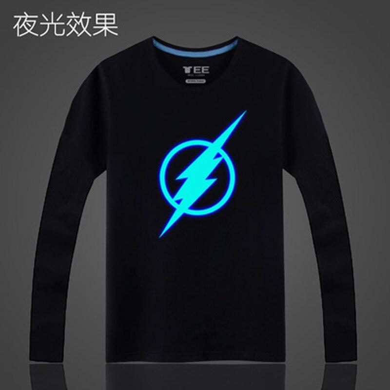 Boys Shirts Teenagers Long-Sleeved High-Quality Cartoon Cotton O-Neck Top Night-Light
