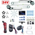 Universal Truck Bus 2-Doors Electric Power Window Kits 3pcs/Set Switches & Wire Harness DC24V  #CA3744