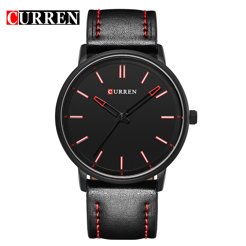 CURREN Luxury Leather Casual Watch Men Sports Watches Quartz Military Wrist Watch Male Date Clock Brand Relogio Masculino 8233 luxury brand men s quartz date week display casual watch men army military sports watches male leather clock relogio masculino