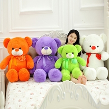 75cm Cute Candy Color Bear Plush Toys Orange Bear Cloth Doll stuffed plush Soft pillow cushion kids toys new year gift