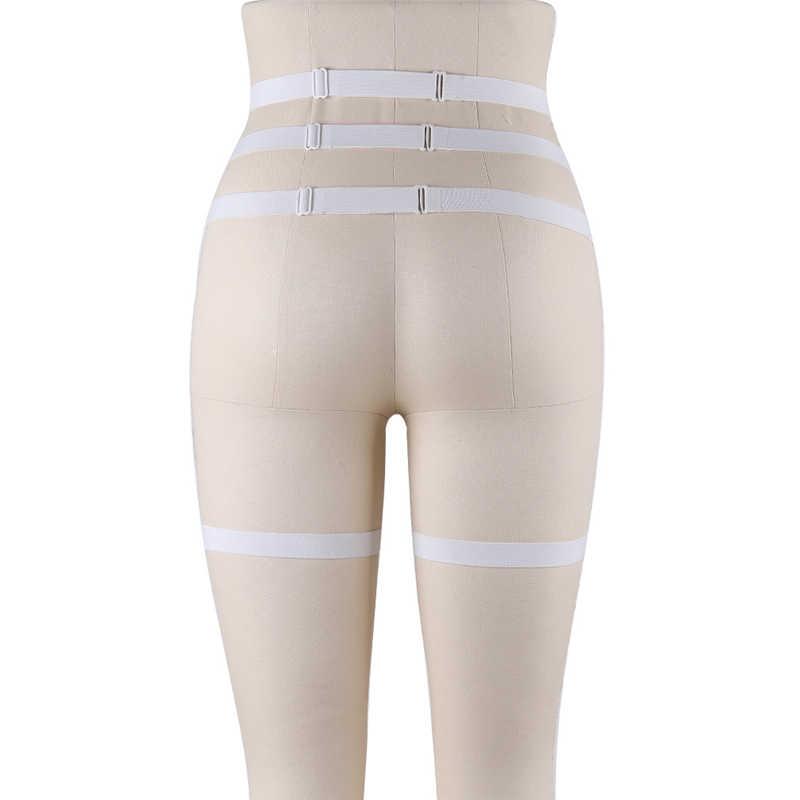 2018 nieuwe producten Witte hoge taille jarretellegordel met kant bloem festival carnaval wear vrouw cadeau fetish erotische ondergoed ster
