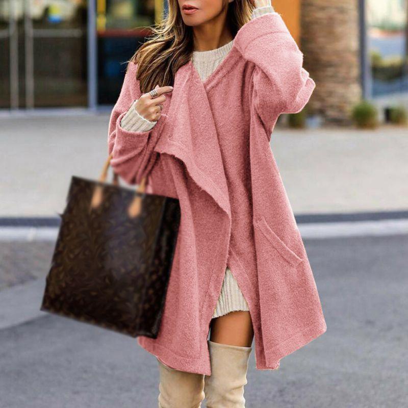 2018 Women   Trench   Coat Fashion Loose   Trench   Open Stitch Coats Female Casual Windbreaker Outwear