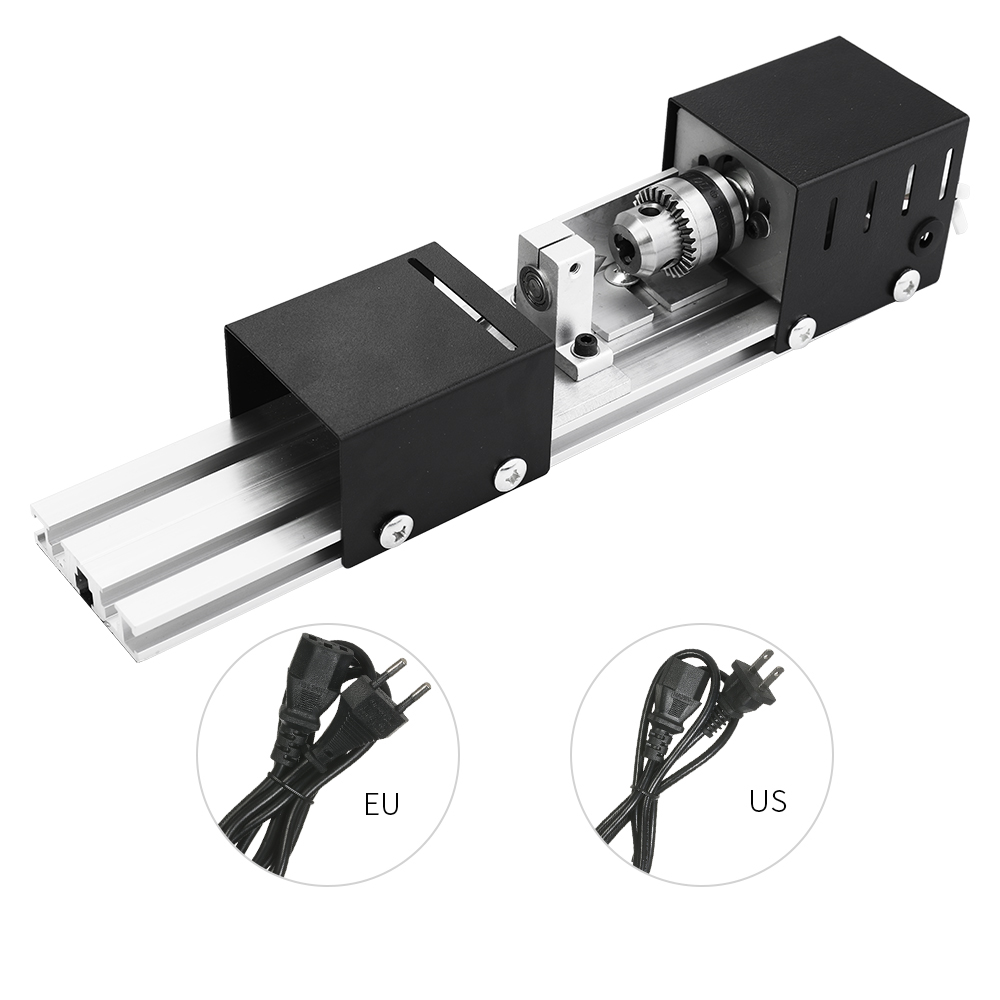 DIY Drill 100W Mini Lathe Machine Mini Torno Tornio Miniature Buddha Pearl Lathe Grinding and Polishing Beads Woodworking Tool home buddha machine wm210v small ball machine mini machine tool teaching lathe woodworking wm180v 0618