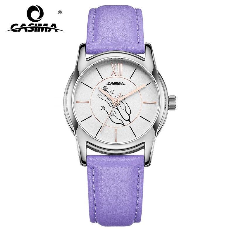 2019 New Luxury Brand Watches Women Fashion Classic Grace Womens Quartz Leather Wrist Watch Waterproof 50m CASIMA #2624