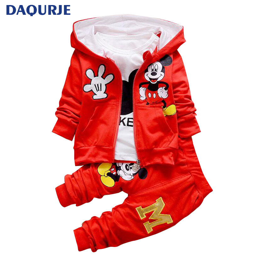 2017 Autumn Children Clothing Sets Boys Girls Clothes Christmas Mickey Minnie Kids Clothes Coat+T-shirt+Pants 3PCS Clothing Sets ad children s mickey thick sets 2 10 age cotton sweater pants boys girls christmas t shirts trousers kids clothing clothes
