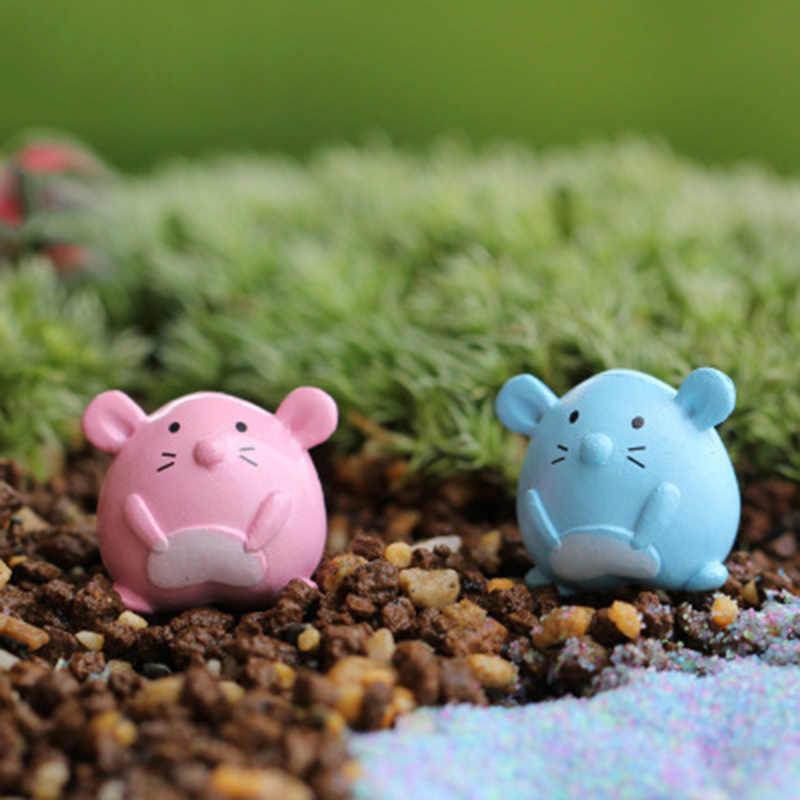 ZOCDOU 2 peças Jerry Rato Dos Desenhos Animados Mouse mouse Modelo Gato Pequena Estátua Estatueta Pouco Artesanato Ornamento Figura Miniaturas Casa Zakka