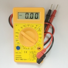 Mini Digital LCD Multimeter AC DC Voltage Ampere Meter Voltmeter Ohmmeter Ammeter Ohm Tester With Buzzer Probe Leads