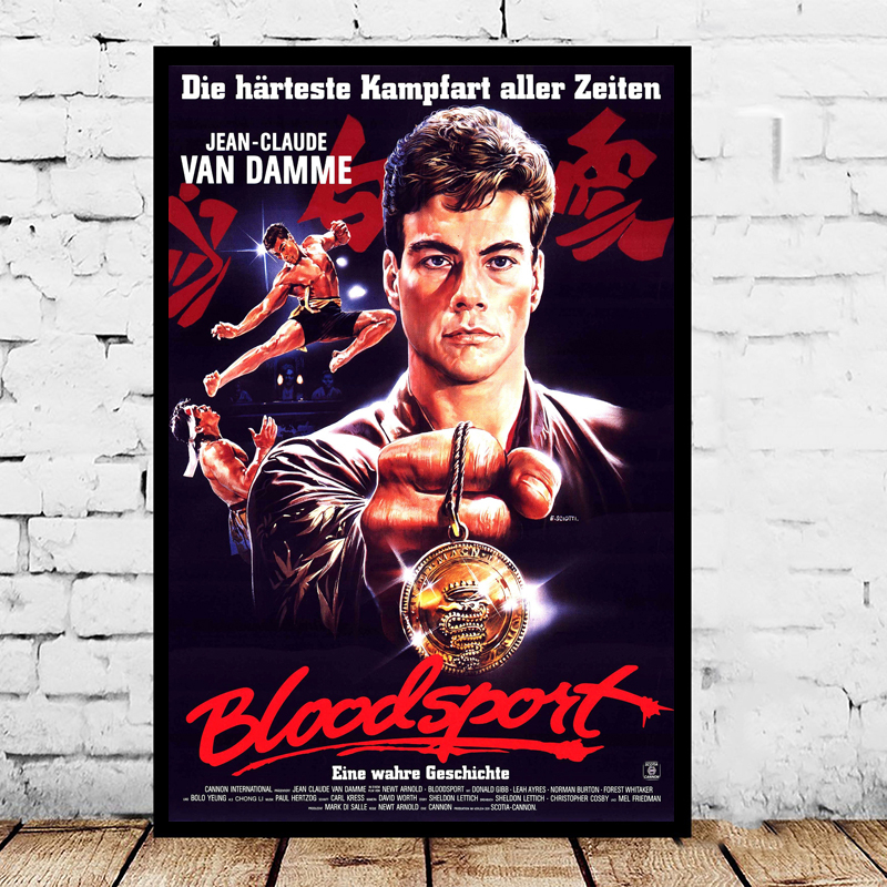 Blood Sport Movie Jean HD Canvas Paintings For Living Room Decoration Modern Wall Art Oil Painting Poster Home Decor image