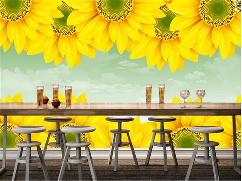 3d wallpaper custom mural non woven photo Beautiful sun flower ...