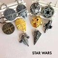 Star Wars 7 Nave Espacial navio de guerra brinquedos chaveiro 2016 Nova Força Despertar Millennium Falcon/Star Destroyer Imperial figura brinquedos