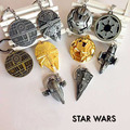 Star Wars 7 Spacecraft warship keychain toys 2016 New Force Awaken Millennium Falcon /Imperial Star Destroyer figura toys