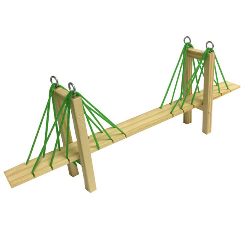 Creative homemade cable-stayed bridge science DIY science teaching aid experimental model new product factory direct