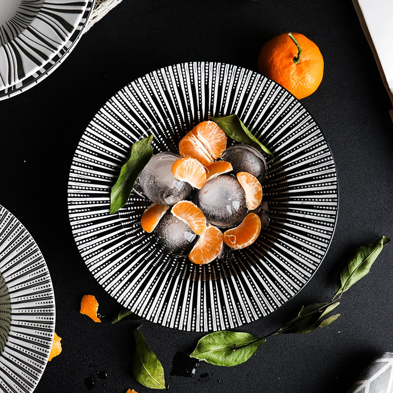 Western Salad Dishes: 1pcs Ceramic Western Deep Plate Restaurant Salad Soup