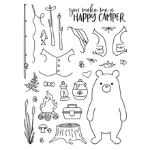 Wild bear Transparent Clear Silicone Stamp/Seal for DIY scrapbooking/photo album Decorative clear stamp