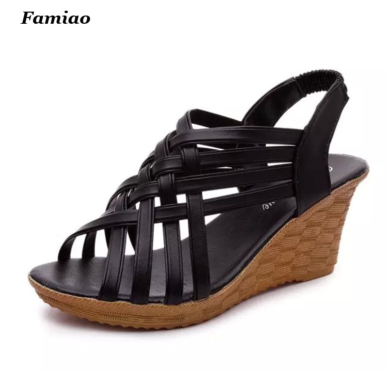 gladiator women sandals wedges heels casual summer shoes woman cut outs lace up beach shoes 2016 fashion women summer sandals slippers flat heel sandals beaded lacing gladiator small wedges shoes casual shoes