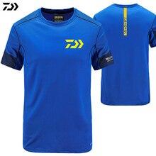 Рубашка Daiwa Лето быстросохнущая дышащая анти-УФ рыболовная рубашка уличная спортивная одежда мужская футболка одежда для рыбалки