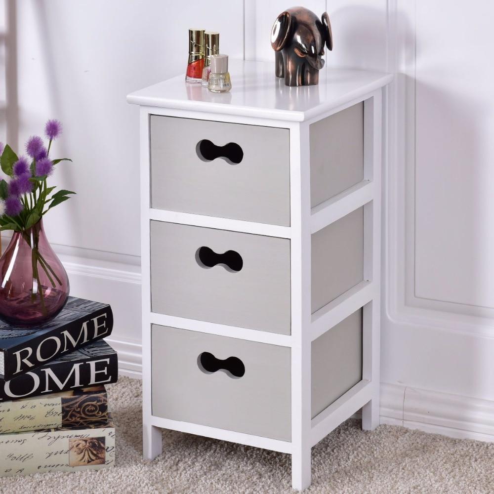 Goplus тумбочка с 3 ящиками Домашний столик тумбочка спальня хранение мебели гостиной столик HW55583