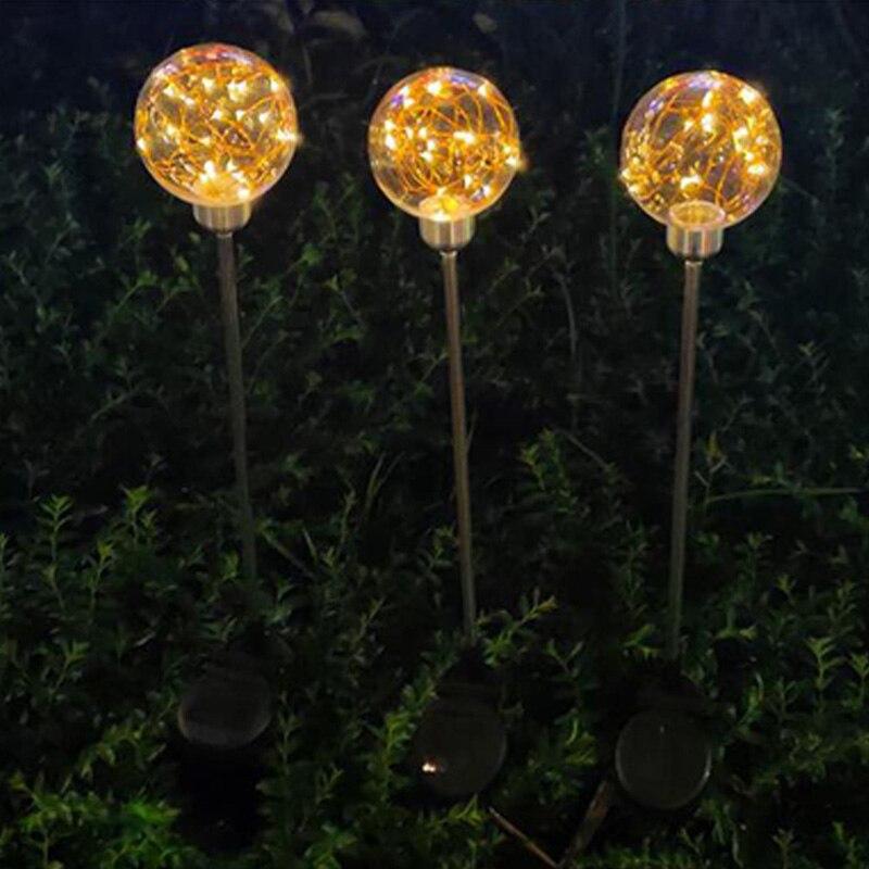 diodo emissor de luz solar do gramado 02