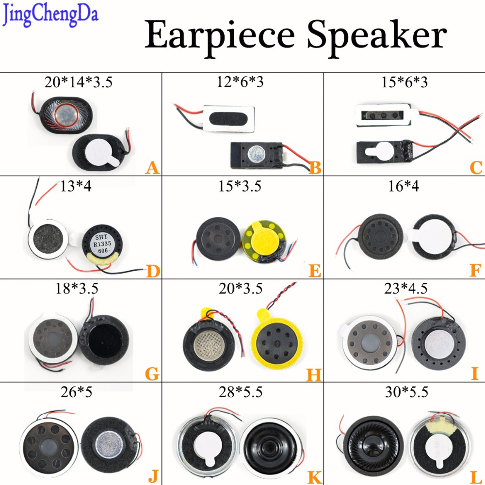JCD Loud Speaker Buzzer Ringer For Most Mobile Phone Compatible 20*14*3.5mm /13*4/15*3.5/ 16*4/18*3.5mm