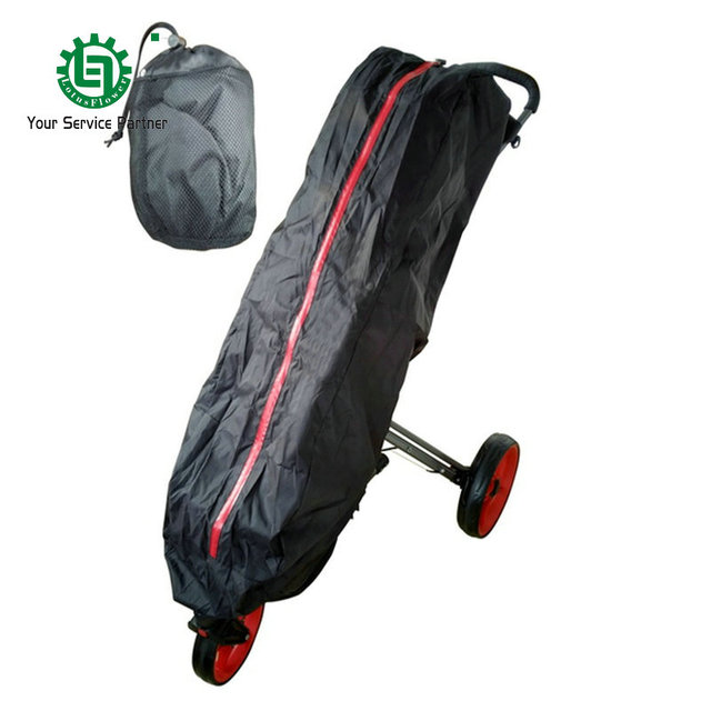 Universal Black Waterproof Golf Trolley Cart Bag Rain Cover Quick And Easy To Put On