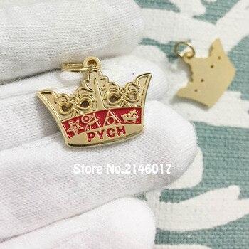 50pcs Custom Lapel Charms 25mm Free Masons Enamel Pendant Masonic PYCH Crown Lady Charm Freemason Masonry Metal Craft