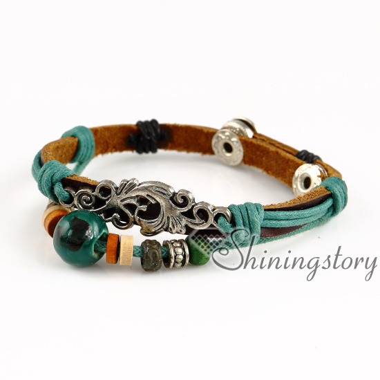 Cross Elephant Anchor Whole Leather Wrap Bracelets Best Friend Charm Birthstone Bracelet Las Brac