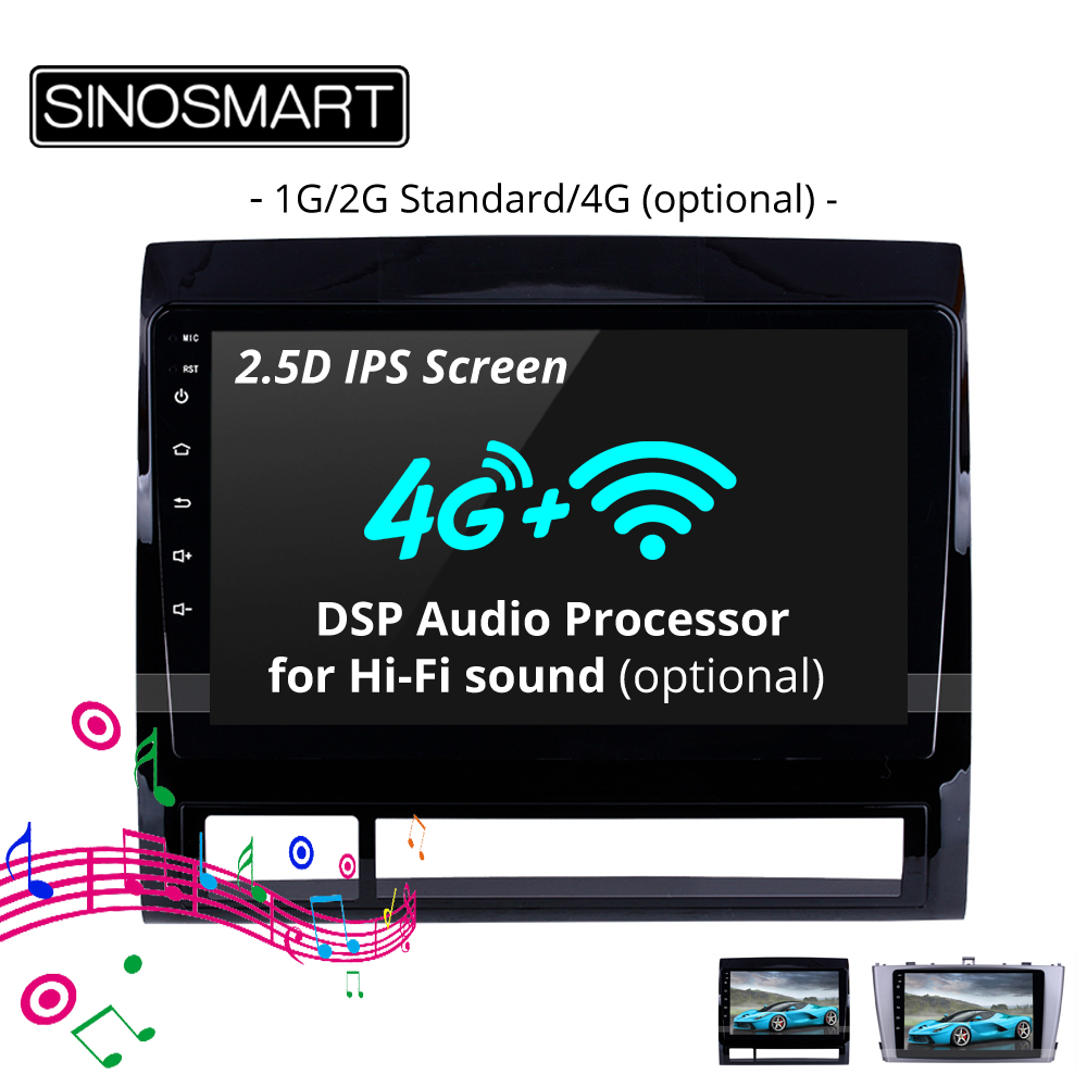 SINOSMART 2 5D IPS 1G 2G Car Audio GPS Navigation Player for Toyota TACOMA Hilux AVENSIS