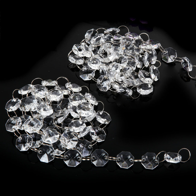 10m 33ft acrylic crystal clear bead wedding supply decor garland 10m 33ft acrylic crystal clear bead wedding supply decor garland chandelier hanging for outdoor aloadofball Choice Image