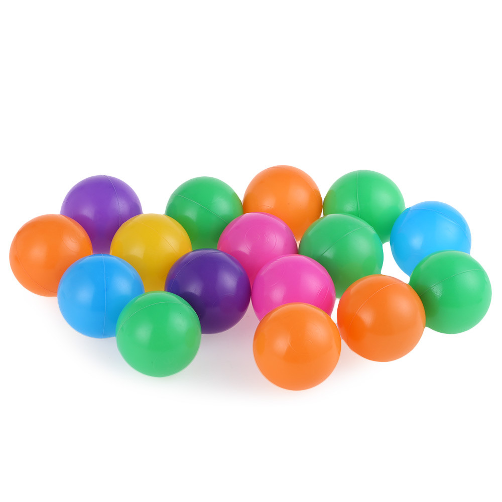 100pcs 5 5cm Colorful Ball Soft Plastic Ocean Ball Funny