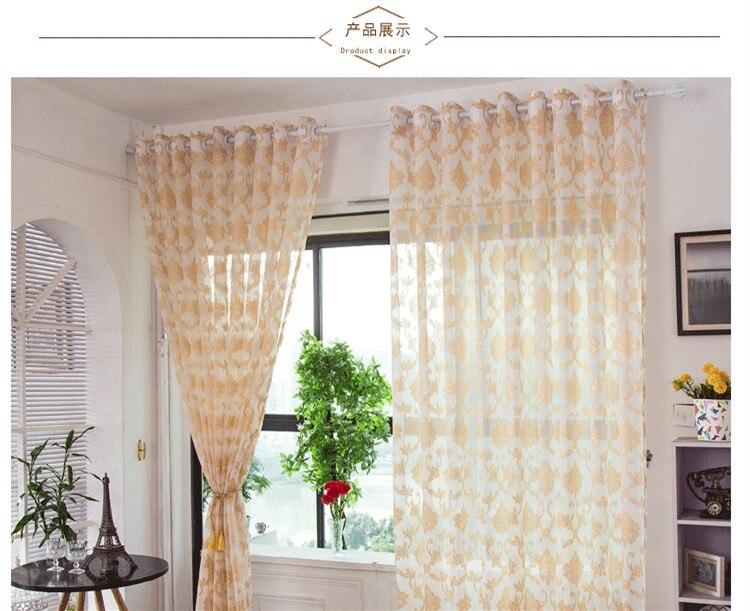 Nieuwe europese stijl jacquard tule voile deur gordijnen woonkamer
