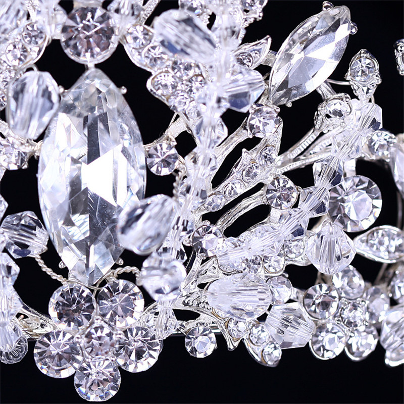 CC Tiaras And Crwons Hairbands Luxury Shine Full Crystal Stone Engagement Wedding Hair Accessories For Bride Party Jewelry XY114