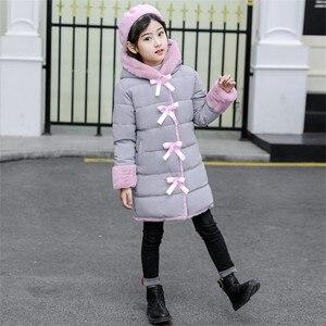 Image 2 - Blouson dhiver en fourrure Imitation pour filles, parka chaude, vêtements pour enfants, Plus velours, à la mode, nouvelle collection 2020