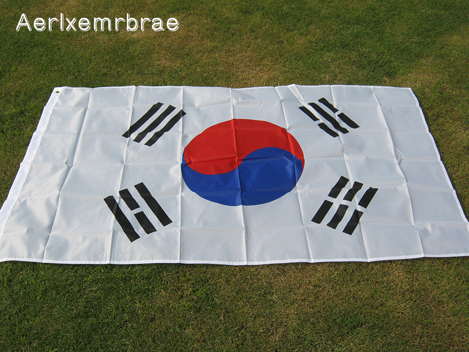 US $2 8 | free shipping aerxemrbrae flag 90 x150cm South Korea Korean Flag  Banner Flags High Quality Polyester Fabrics-in Flags, Banners & Accessories