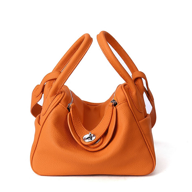 4b85bd9ba8 2018 Cow Genuine Leather Famous Designer Women Casual Tote Bags Handbags  Hobo Shoulder Bag Solid High