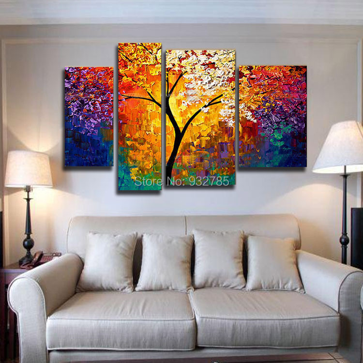 Buy 3 piece set bright life tree painting for Decoration murale one piece