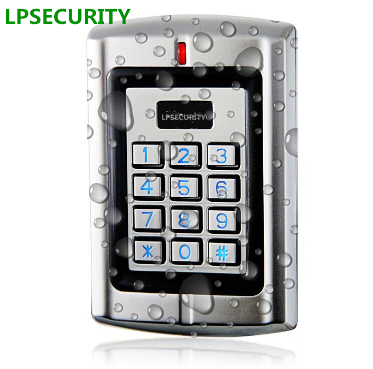 LPSECURITY Waterproof Standalone RFID keypad Card Door Access Controller ID Reader input/output High-performance good quality smart rfid card door access control reader touch waterproof keypad 125khz id card single door access controller