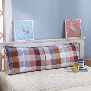 Image 5 - すべての綿の枕ケース、ダブル枕ケース、1.2m1。5メートル、肥厚ツイル印刷綿クリップ、カップルのカップル枕ケース