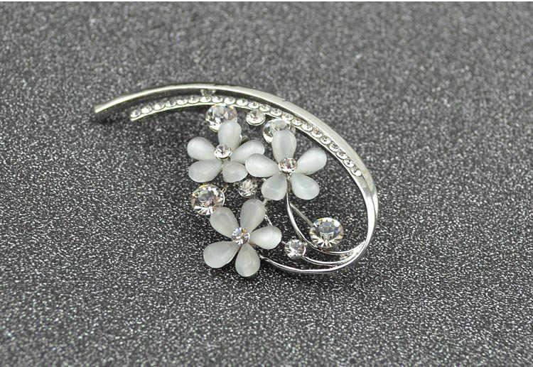 Cindy Xiang Gaya Korea Opal Bunga Bros untuk Wanita Berlian Imitasi Set Elegan Bros Pin Musim Panas Gaun Aksesoris Hadiah Yang Bagus