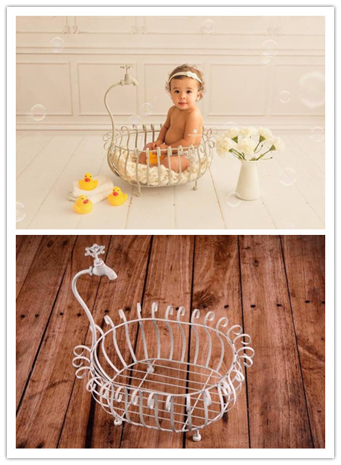 Newborn Photography Props Creative Props Iron Bathtub Props Baby Photo Shoot Studio Photography