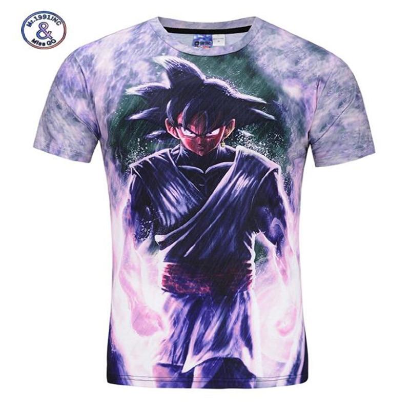 Mr.1991INC&Miss.GO new style Dragon Ball Z T Shirts Summer tops big kid 3D t shirt short sleeve DBZ T-shirt Mens Clothing