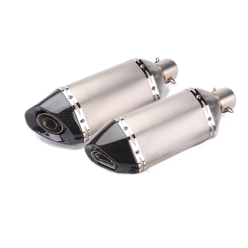 360mm Length Motorcycle Exhaust Pipe Muffler Case For CBR CB600 ER10N Z800 MT09 YZF R1 R6 R15 FZ6 ATV Dirt Bike Exhaust Raing length 360mm id 51mm carbon fiber motorcycle exhaust muffler pipe with silencer case for cb600 mt07 yzf duke fz6 atv dirt bike