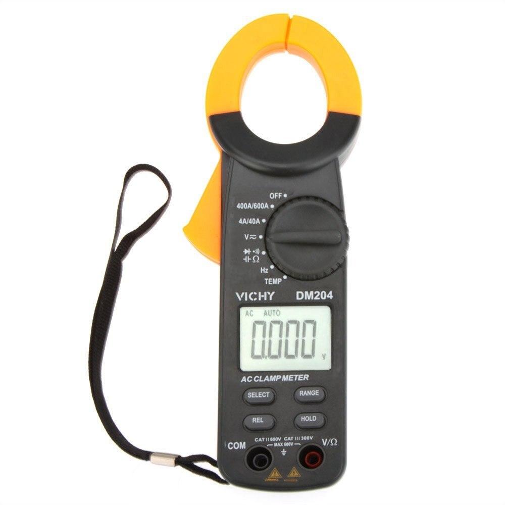 Digital multimeter VICHY DM204 Clamp Meter Ammeter Ohmmeter Voltmeter w/Capacitance Frequency & Temperature Test digital multimeter w temperature capacitance frequency test lcr meter ammeter analog multitester