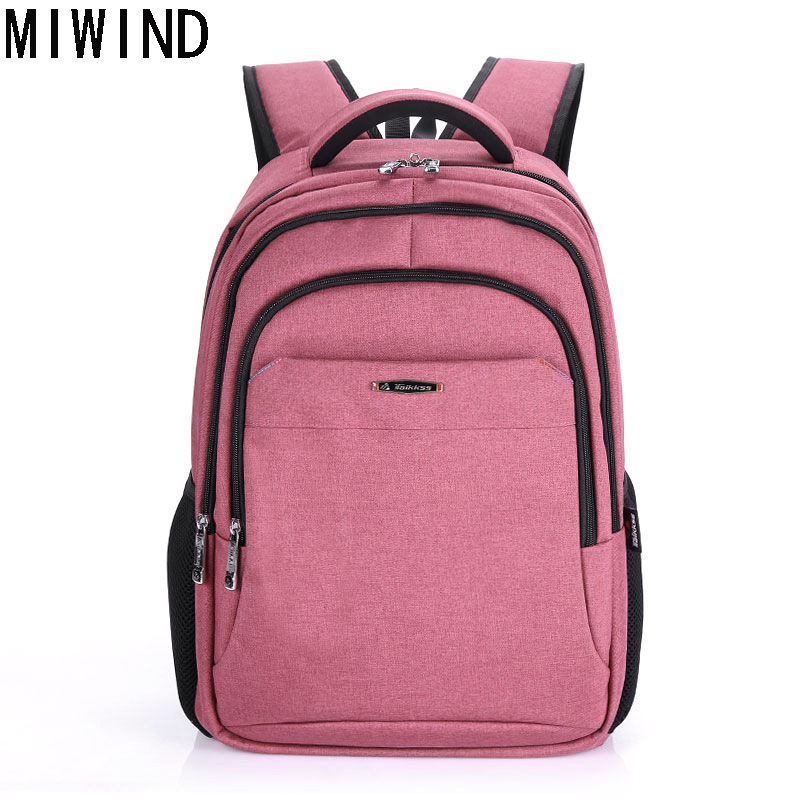MIWIND Women Nylon Backpack Bag For Teenagers School Girls Laptop Schoolbag Mochila TBX1090