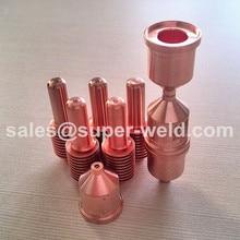 120926 elektrode 10 stücke + 120932 Düse 10 stücke für 40A Plasmaschneiden Verbrauchsmaterial