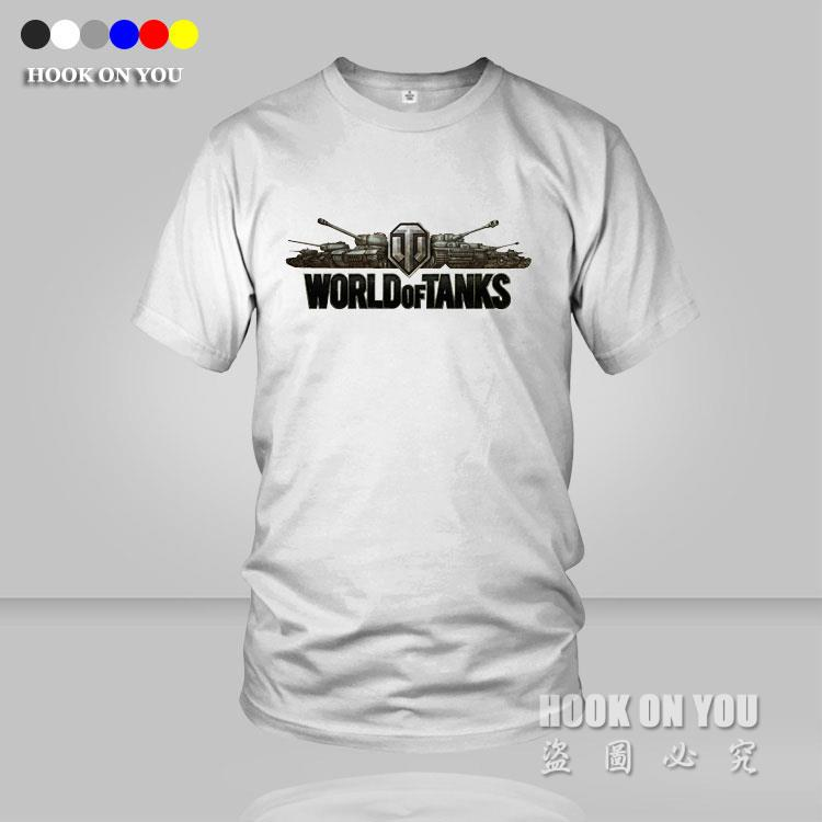 New Design World Of Tanks Men T shirts WOT Fitness Short Sleeve T-shirts Slim Fit Casual t shirt