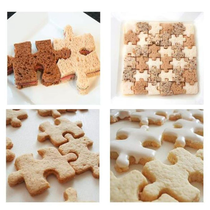 Stainless Steel Cookie Cutter Fondant Tools Cake Decorating Jigsaw Puzzle Shape Cake Mold Sugarcraft Cutter Cake Baking Tool